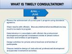 what is timely consultation2