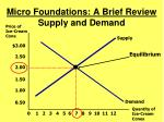 micro foundations a brief review supply and demand