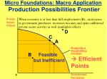 micro foundations macro application production possibilities frontier1