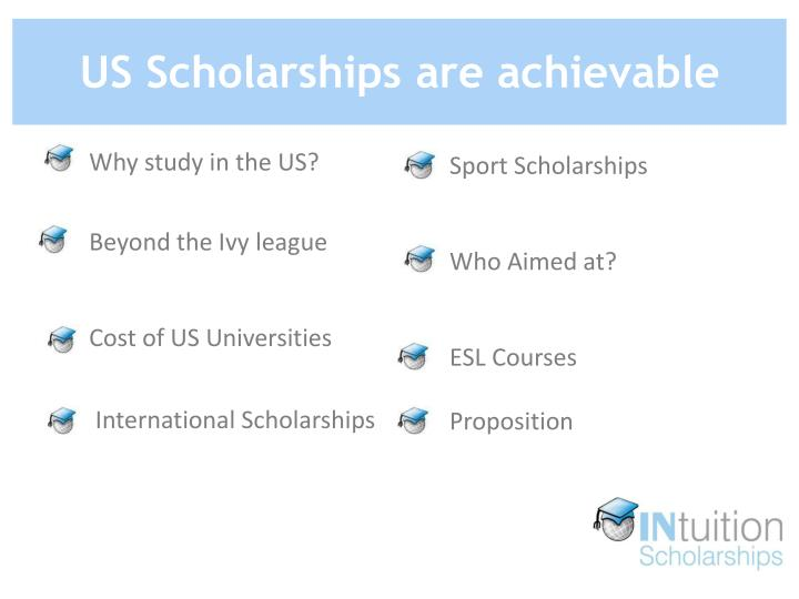 Us scholarships are achievable