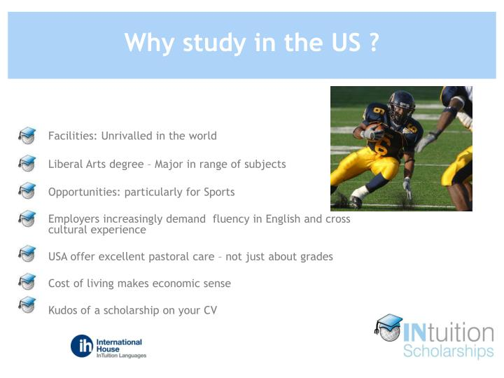 Why study in the US ?