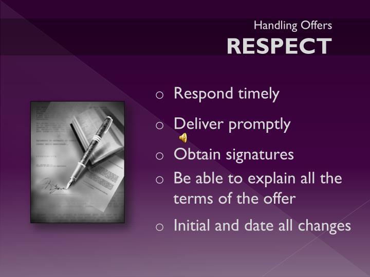 Handling Offers