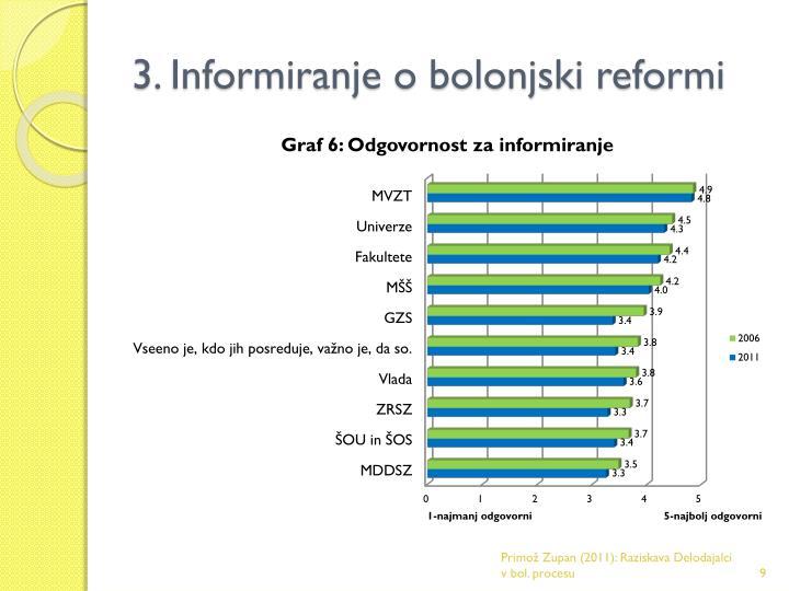 3. Informiranje o bolonjski reformi