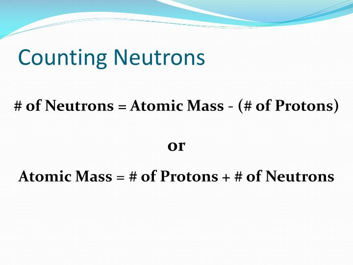 Counting Neutrons