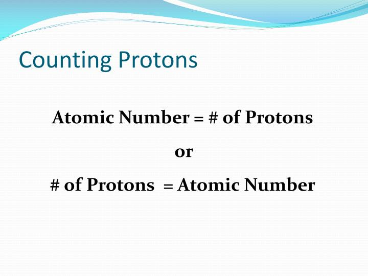 Counting Protons