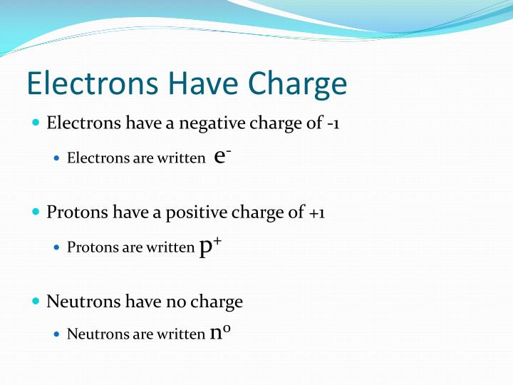 Electrons Have Charge