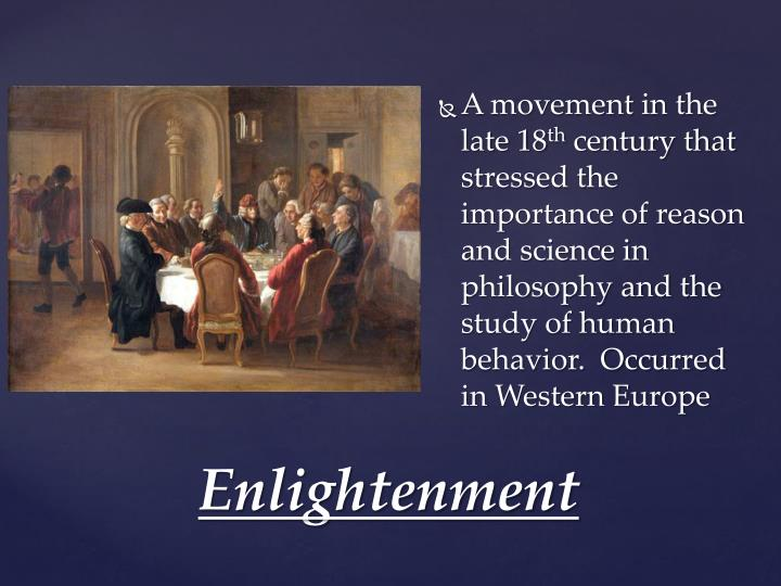 A movement in the late 18