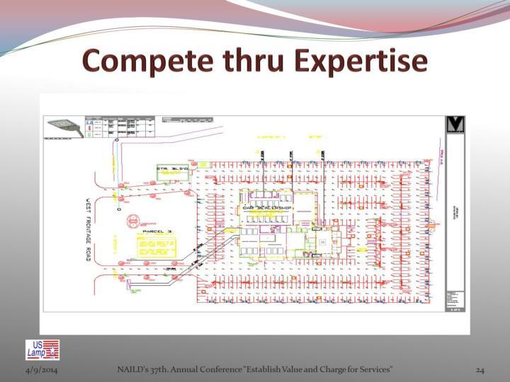 Compete thru Expertise