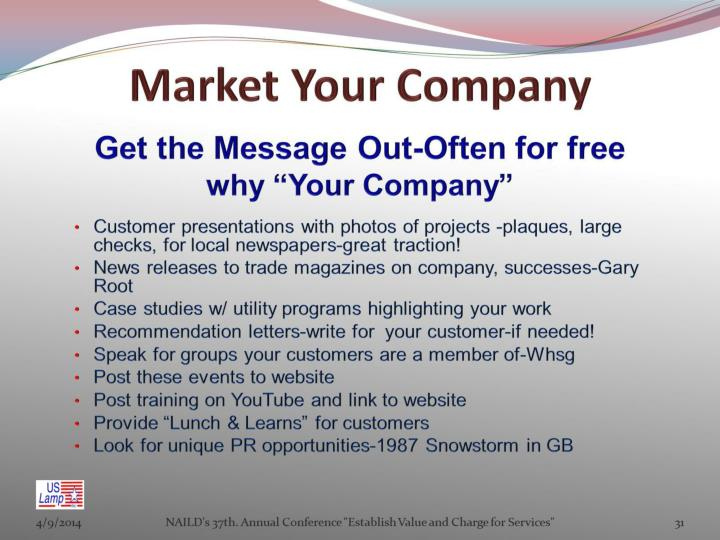 Market Your Company