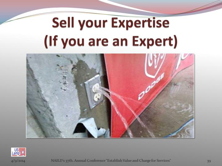 Sell your Expertise