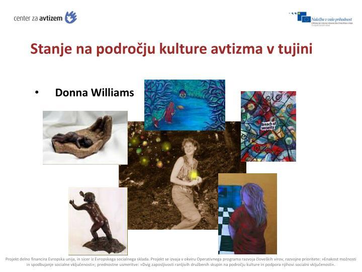 Stanje na področju kulture avtizma v tujini