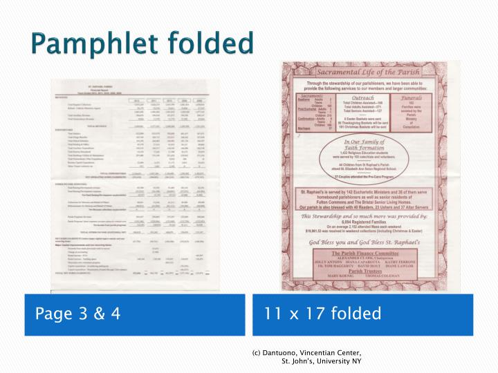 Pamphlet folded