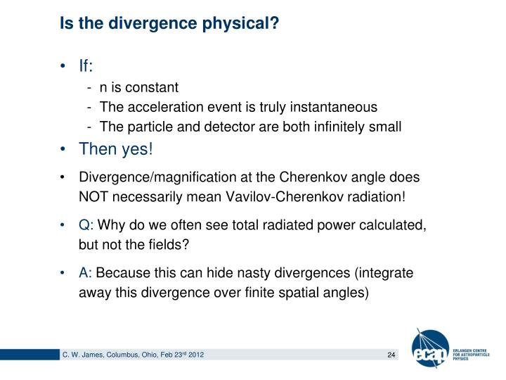 Is the divergence physical?