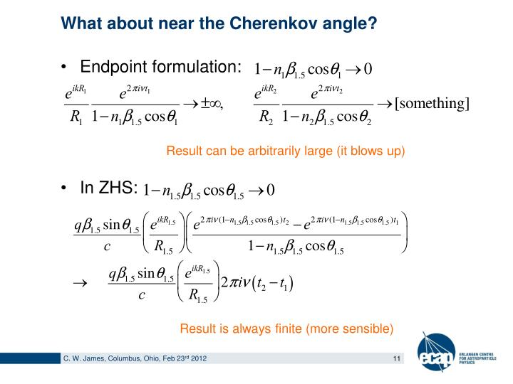 What about near the Cherenkov angle?