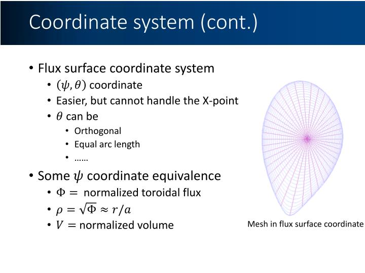 Coordinate system (cont.)