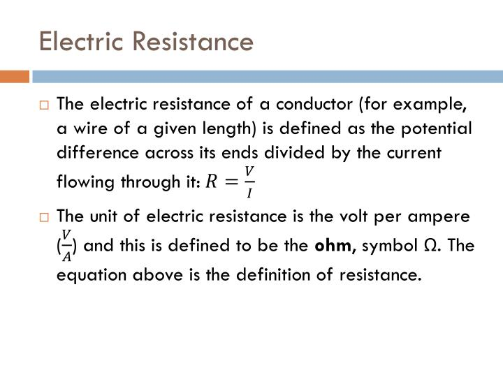 Electric Resistance