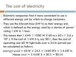 the cost of electricity1