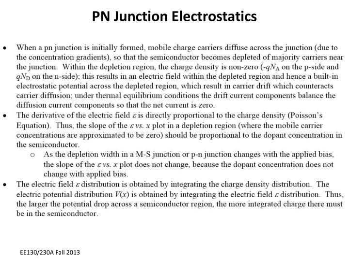 PN Junction Electrostatics