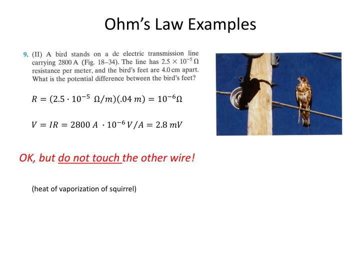 Ohm's Law Examples