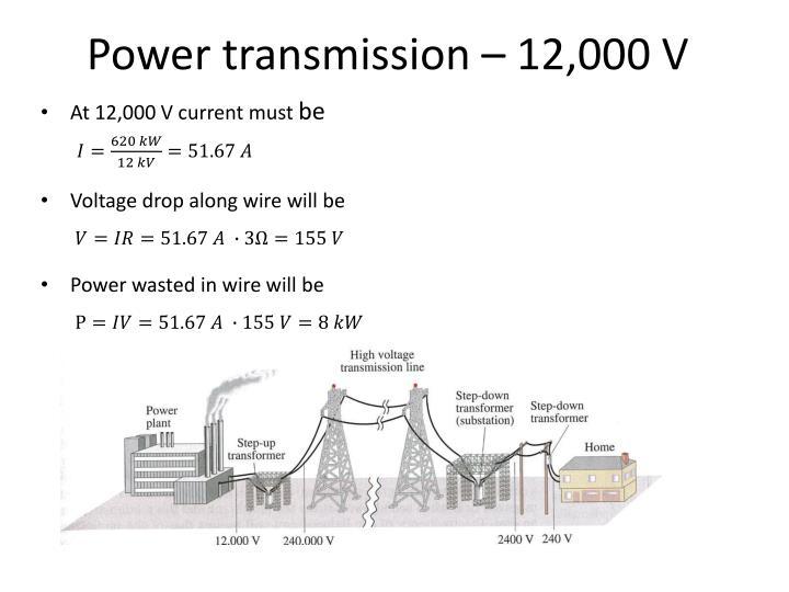 Power transmission – 12,000 V