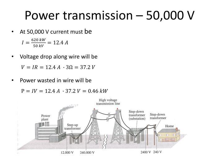 Power transmission – 50,000 V
