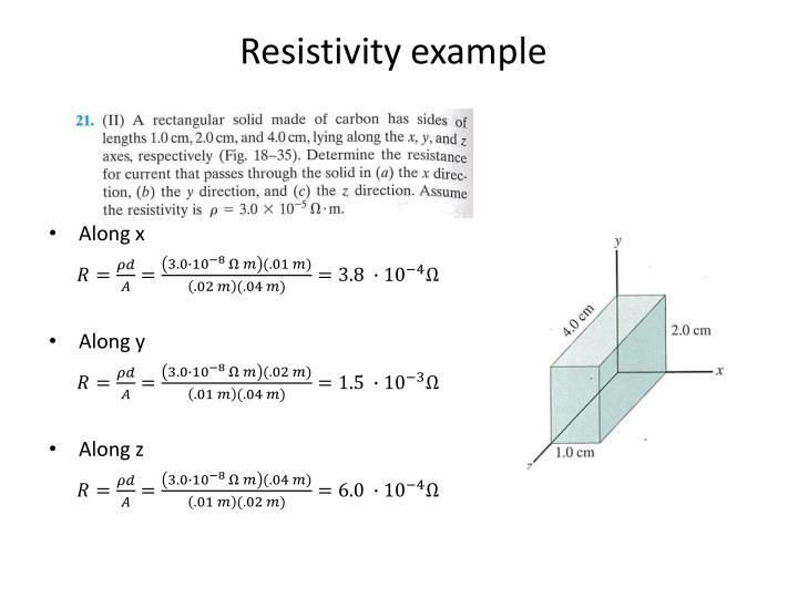 Resistivity example