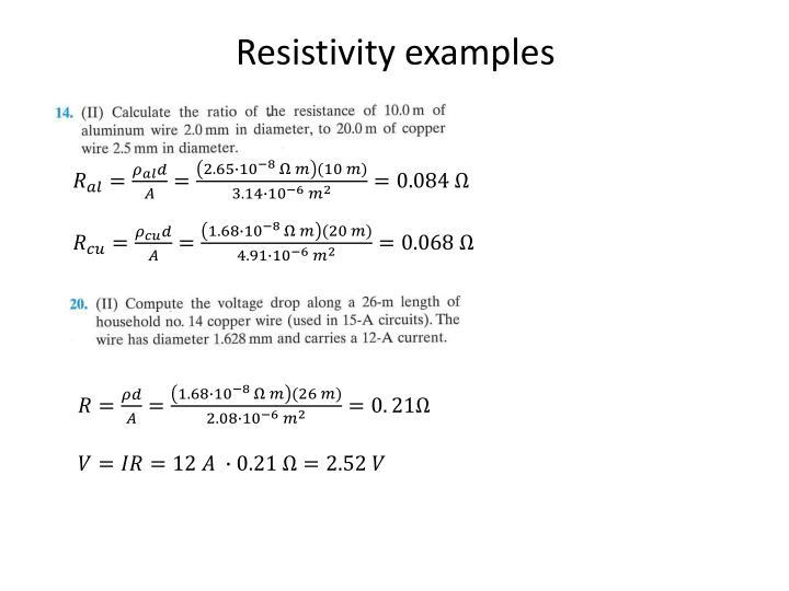 Resistivity examples