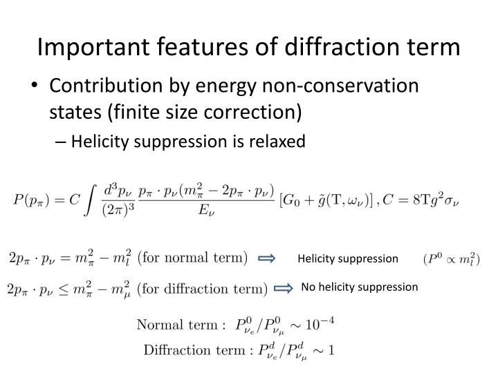 Important features of diffraction term