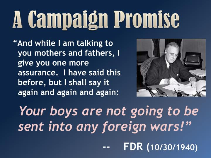 A Campaign Promise