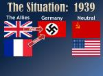 the situation 1939