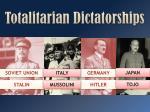 totalitarian dictatorships