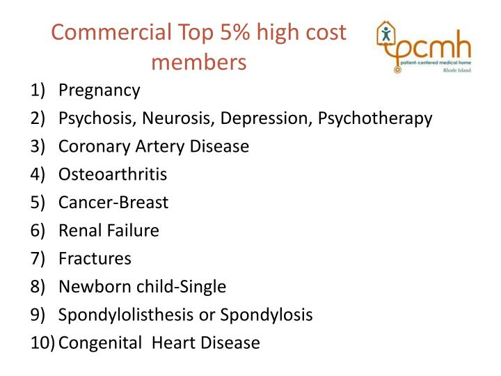 Commercial Top 5% high cost members