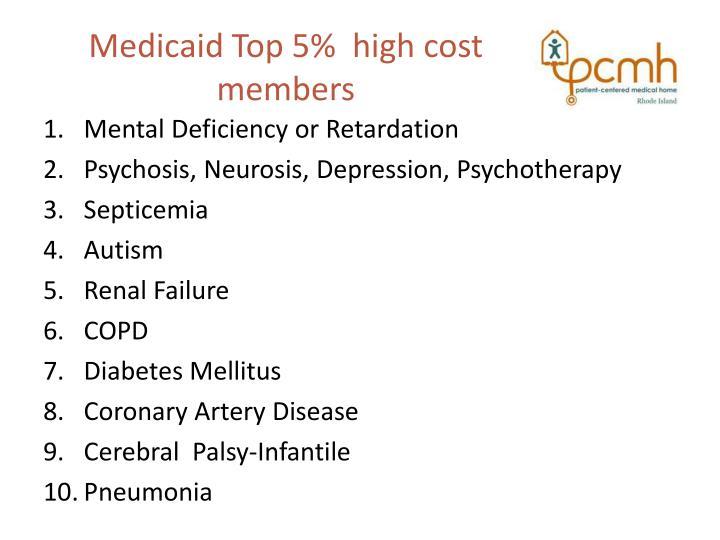Medicaid Top 5%  high cost members