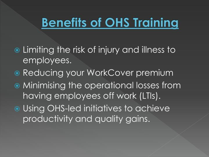 Benefits of OHS Training