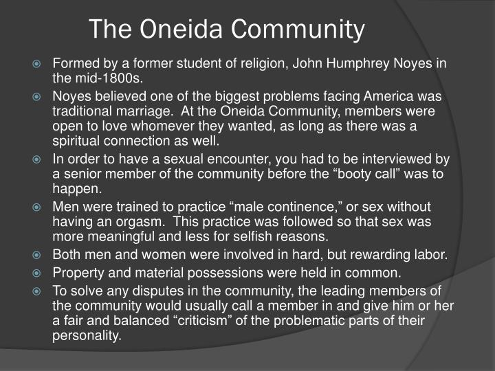 The Oneida Community