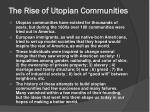 the rise of utopian communities