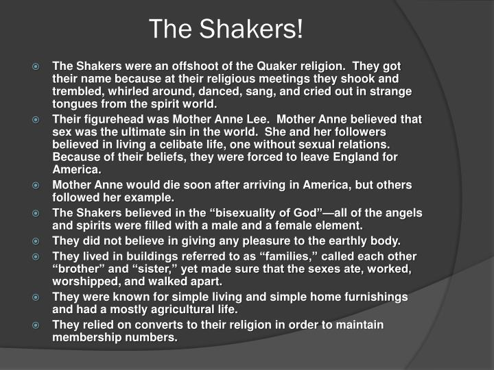 The Shakers!