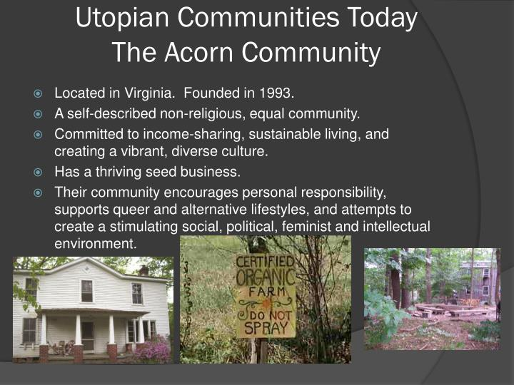 Utopian Communities Today