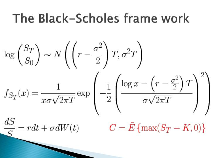 The Black-Scholes frame work