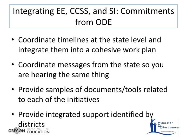 Integrating EE, CCSS, and SI: