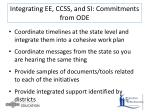 integrating ee ccss and si commitments from ode