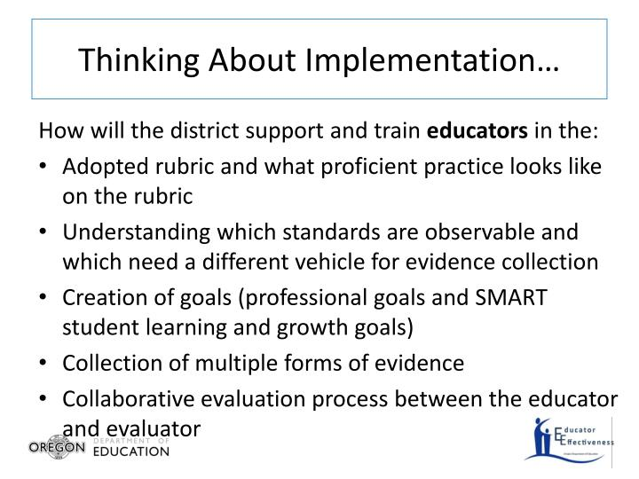 Thinking About Implementation…