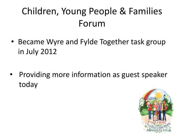 Children, Young People & Families Forum