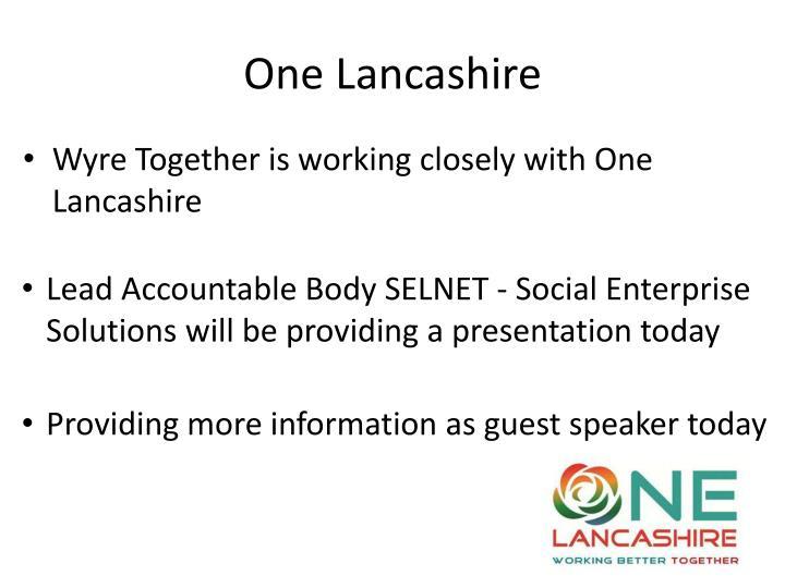 One Lancashire