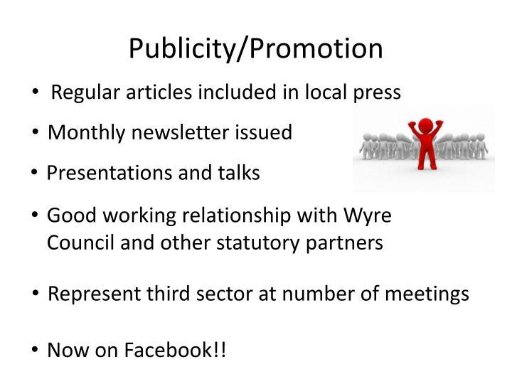 Publicity/Promotion