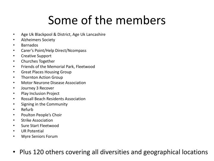 Some of the members