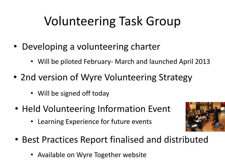Volunteering Task Group