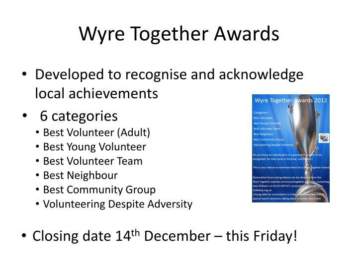 Wyre Together Awards