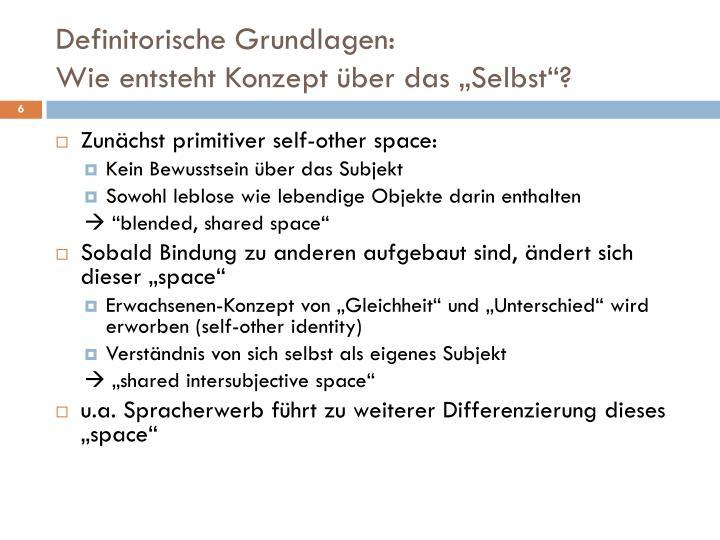 Definitorische Grundlagen: