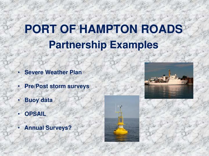 PORT OF HAMPTON ROADS